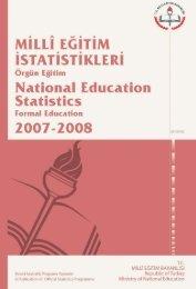 Milli Eğitim İstatistikleri, Örgün Eğitim 2007-2008 - Strateji Geliştirme ...