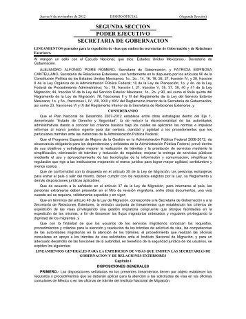 Lineamientos generales para la expedición de visas que emiten las ...