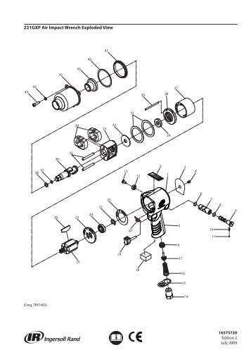 2131 Series Air Impact Wrench Exploded Diagram