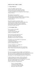 SONGS OF MY FAMILY LYRICS 1. Always With Love Cold is the ...