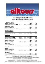 Superangebote bundesweit vom 06.05.2006 - Alltours