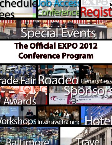 The Official EXPO 2012 Conference Program - The Community ...
