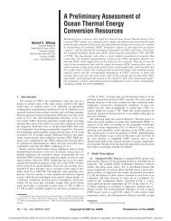 A Preliminary Assessment of Ocean Thermal Energy Conversion ...