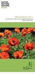 Offene Gärten 2011  - Offene Gartenpforte