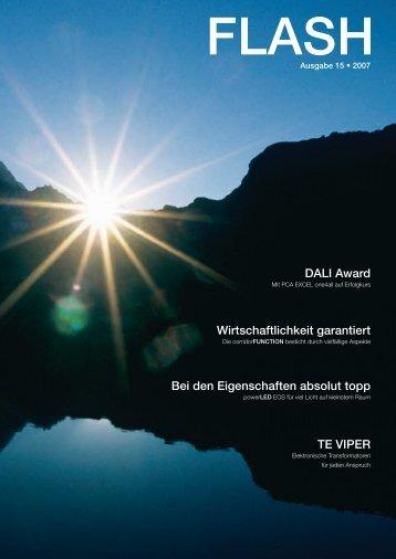 DALI Award Wirtschaftlichkeit garantiert Bei den Eigenschaften ...