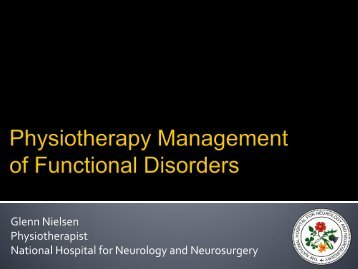 Management of conversion disorders - acpin