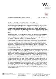 WU Executive Academy erhält AMBA Akkreditierung - WiWi-Online