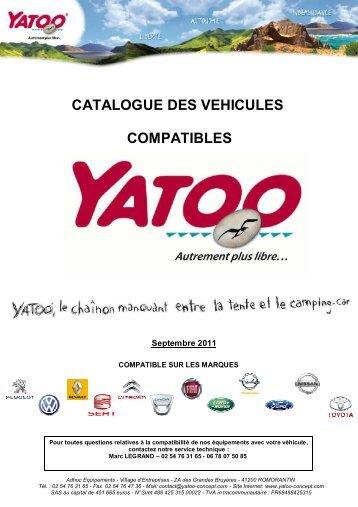 catalogue des vehicules compatibles - Yatoo