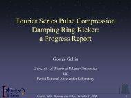Damping ring kickers - University of Illinois High Energy Physics ...