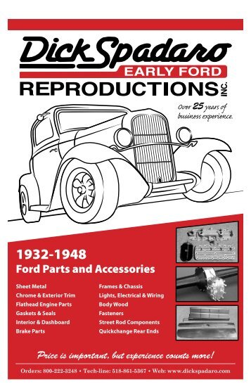 Genuine parts quality reproductions early ford v8 sales ford parts and accessories dick spadaro early ford reproductions sciox Choice Image