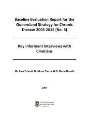Key Informant Interviews with Clinicians - General Practice ...