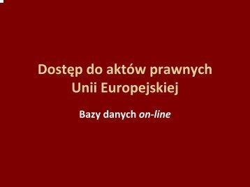 Bazy prawne UE.pdf - Biblioteka Europejska