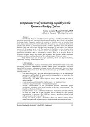Comparative Study Concerning Liquidity in the Romanian Banking ...