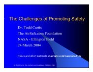 Presentation Slides - Airline Safety and Security Information