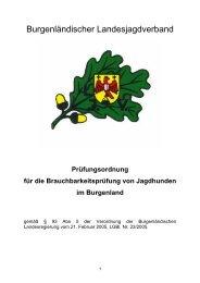 Prüfungsordnung für die Brauchbarkeitsprüfung von Jagdhunden im ...