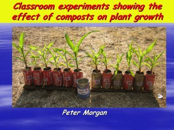 Classroom experiments showing the effect of ... - EcoSanRes