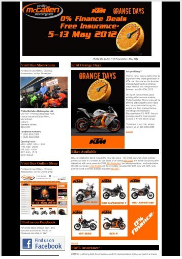 Newsletter | KTM | Orange Days | 7th May 2012 - Phillip McCallen ...