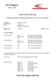 A u s s c h r e i b u n g - Leichtathletikweb.de