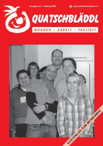 Ausgabe 32 - Lebenshilfe Sinsheim eV und Kraichgau Werkstatt für ...