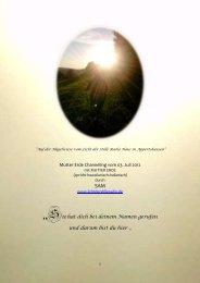 Von der Kraft des Lichts, von der Sonne ... - pachamama 2012