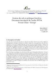 Gestion des sols et politiques foncières. Document introductif ... - aGter