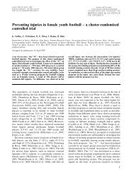 Preventing injuries in female youth football – a ... - ResearchGate