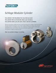 Schlage Modular Cylinder - Locksmith Security Association of ...