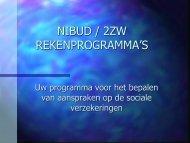 NIBUD / 2ZW REKENPROGRAMMA'S