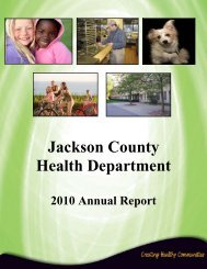 FY2010 Annual Report - Jackson County, Michigan