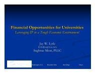 Financial Opportunities forUniversities: Leveraging IP in a ... - JUNBA