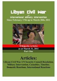 2011 Libyan civil war - Libreria Militare Ares