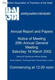Annual report 2002 - batod