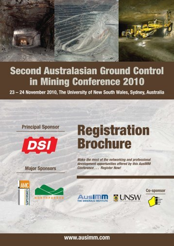 Second Australasian Ground Control in Mining Conference 2010