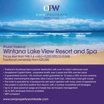 Wintana Lake View Resort and Spa - Hypamanagement.com