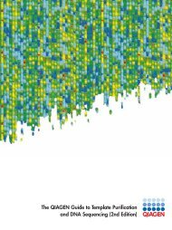 The QIAGEN Guide to Template Purification and DNA Sequencing ...