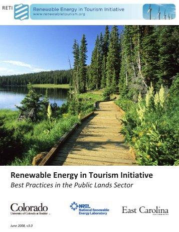 Renewable Energy in Tourism Initiative - East Carolina University