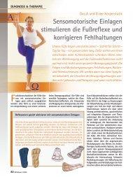 Sensomotorische Einlagen stimulieren die Fußreflexe und ...