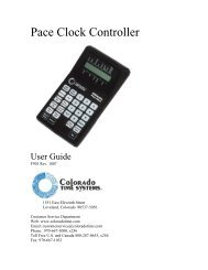 Pace Clock Controller - Colorado Time Systems