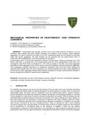 mechanical properties of heavyweight, high strength concrete