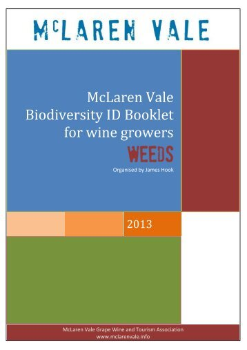 McLaren Vale Biodiversity ID Booklet for wine growers