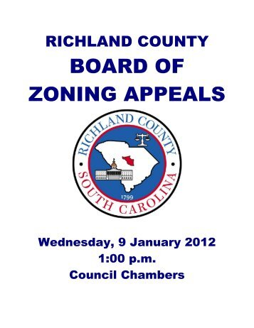 BOARD OF ZONING APPEALS - Richland County