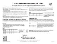 SANTANNA AIR BLOWER INSTRUCTIONS - Waterway Plastics
