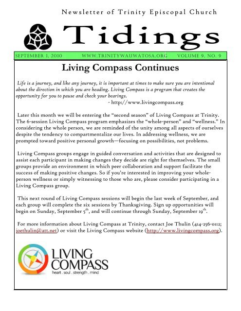 Living Compass Continues - Trinity Episcopal Church