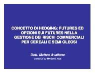 concetto di hedging - Gruppo Lavoro Micotossine