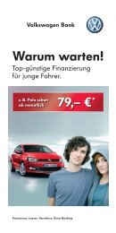 Flyer zum Angebot downloaden - Volkswagen AG