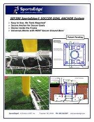 SEF390 SportsEdge® SOCCER GOAL ANCHOR System