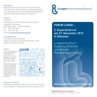 Programmflyer zum Download - Lungeninformationsdienst