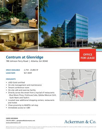centrum at glenridge - Ackerman & Co.