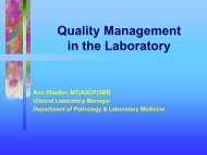 Quality management in the laboratory - the UCLA Department of ...