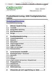 GSD-Fastighetskartan, vektor